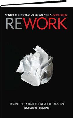 Front cover of the book ReWork